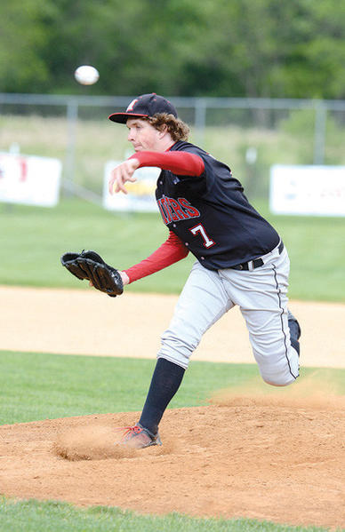 Meyersdale left-hander Steven Haer throws against McConnellsburg in the District 5 Class A playoffs on Friday in Everett.