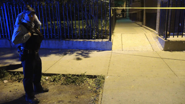 A boy was shot in the gangway here before midnight on May 24.