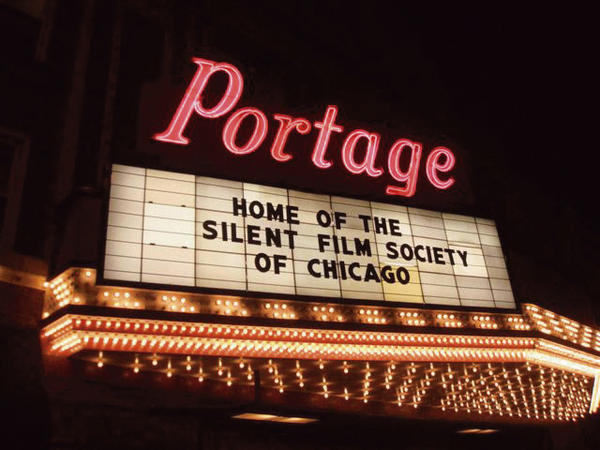 The Portage Theater (4050 N. Milwaukee Ave.) when it reopened in May 2006 after $250,000 in refurbishing and renovations. Photo courtesy of theater manager Dennis Wolkowicz.