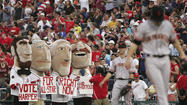 In-game entertainment: Nationals Presidents Race