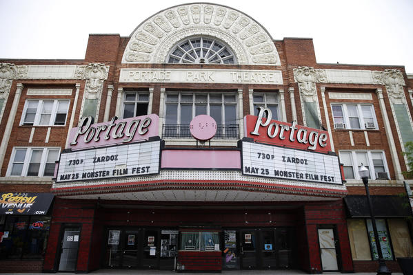 The Portage Theater is pictured on Saturday. The theater is closing indefinitely.