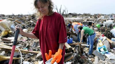 Oklahoma tornado survivors salvage what's left