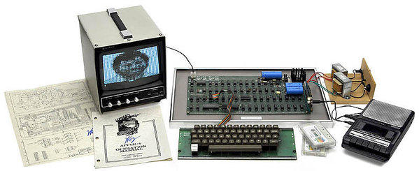 An original Apple-1 sold at auction Saturday.