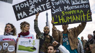 Protesters target genetically modified food