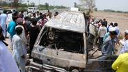 Pakistan school van fire kills 16 children, teacher