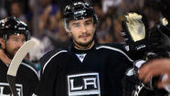 Just watch Slava Voynov drift toward the goal, holding the puck on his stick, waiting.