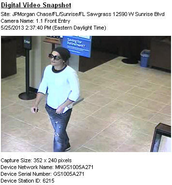 The FBI release this surveillance image of a man they're seeking in connection with a Saturday bank robbery.