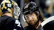 SAN JOSE — With elimination at the hands of the Los Angeles Kings one loss away, the San Jose Sharks are likely to make one lineup change Sunday for Game 6 of the teams' Western Conference semifinal playoff series.