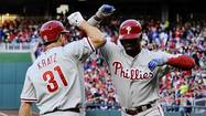 WASHINGTON -- Delmon Young and Domonic Brown delivered two-out RBI hits to break open a tie game in the eighth inning as the Philadelphia Phillies defeated the Washington Nationals 5-3 on Saturday.