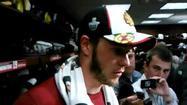 Video: Hawks' Toews on his goal in 4-1 win
