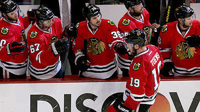Hawks storm to 4-1 victory, stave off elimination