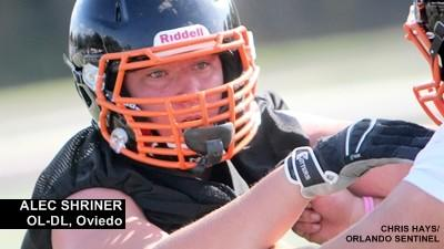 Oviedo 2015 lineman Alec Shriner earns first offer from UMass