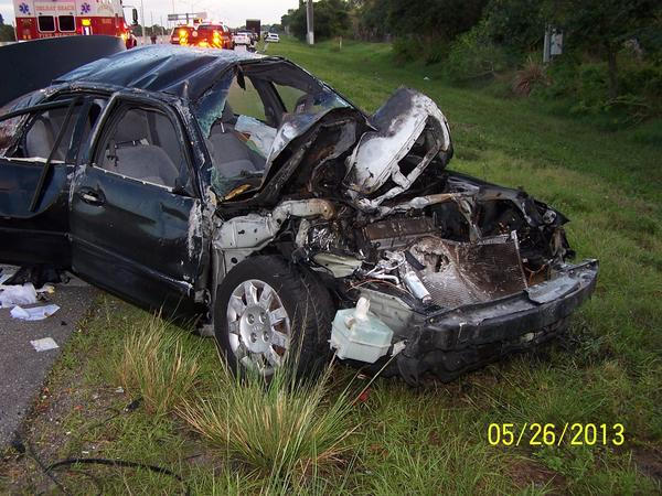 A 20-year-old Boca Raton man was was ejected from his car and killed early Sunday when he ran into the rear of a tractor trailer on Interstate 95, one mile south of Woolbright Road, according to police.