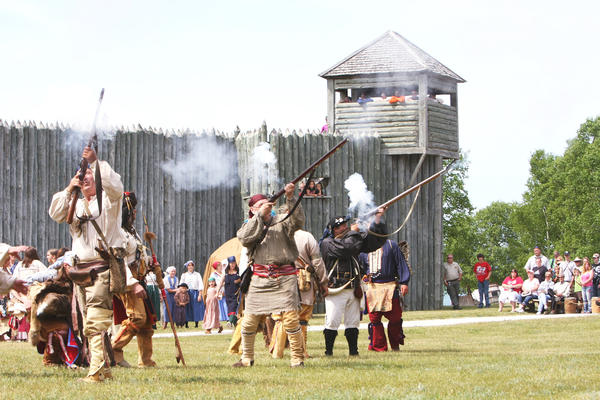 Historic interpreters will particpate in the 250th anniversary of the Ojibwa attack at Fort Michilimackinac.