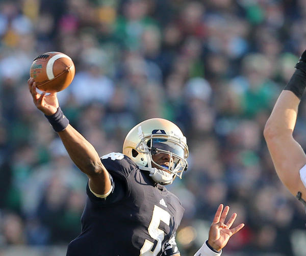 Everett Golson will miss the 2013 Notre Dame season.