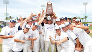 The UConn baseball team completed its improbable journey, coming from the bottom of the bracket to win the Big East Tournament with an 8-1 victory over Notre Dame Sunday in the championship game at Clearwater, Fla.