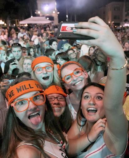 Young fans attend a 2012 Rock the Vote concert in Boca Raton, Fla. Illinois may join 19 other states in allowing 17-year-olds to vote in a primary election if they will be 18 by the time of the general election.