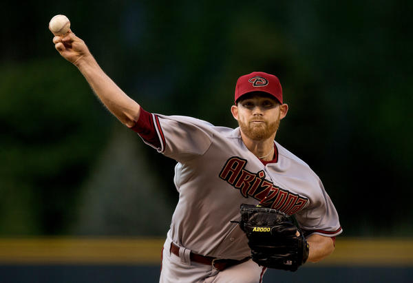 Arizona Diamondbacks starter Ian Kennedy against the Colorado Rockies.
