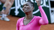 A limited Venus Williams eliminated from French Open in first round