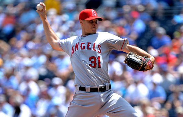 Angels right-hander Billy Buckner picked up a victory in debut with the club on Saturday.