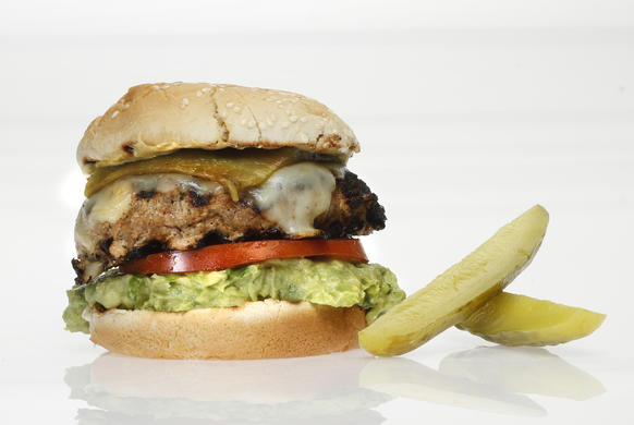 "Is that guacamole? Yes it is! This  turkey burger might convert the non-turkey-burger types.<br> <a href=""http://www.latimes.com/features/food/la-fo-burgerbattlerec3-20110623,0,179405.stor"