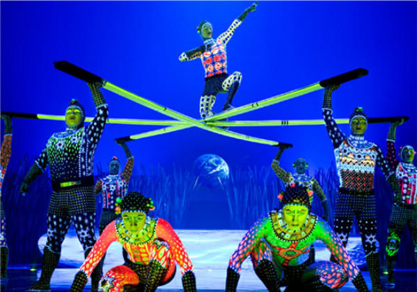 "A scene from the touring production of Cirque du Soleil's ""Totem."""