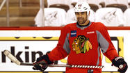 DETROIT -- The Chicago Blackhawks' Jamal Mayers hasn't played during the Western Conference semifinals against the Detroit Red Wings, but the veteran did find a way to make an impact.