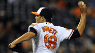 The Chicago Cubs claimed Baltimore Orioles reliever Alex Burnett on waivers Monday and said he will take Kyuji Fujikawa's spot on the roster.