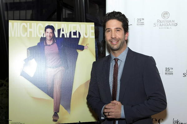David Schwimmer at the Michigan Avenue magazine party May 22, 2013 at The Dec Rooftop Lounge   Bar in the Ritz-Carlton Chicago hotel.