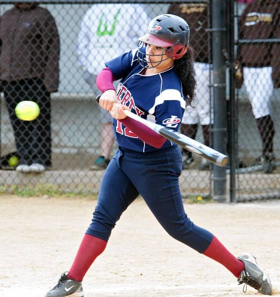 Mariah Kondravy is one of Liberty's leading hitters. The Hurricanes face Pleasant Valley in the District 11 Class 4A semifinals today.
