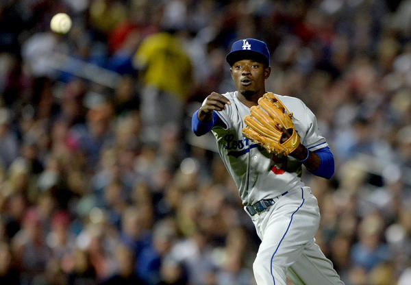 Dodgers shortstop Dee Gordon was sent down to triple-A Albuquerque.