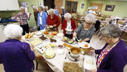Gray Ladies gather for potluck meal