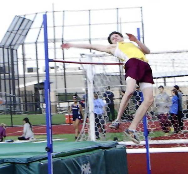 Forest Moses has qualified for the state meet for the second year in the row for Northridge Prep despite the fact he can't practice because the school doesn't have a jumping pit.