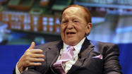JERUSALEM -- Casino billionaire and Israel supporter Sheldon Adelson said Tuesday that U.S. efforts to restart Mideast peace talks are doomed until Palestinians accept Israel as a Jewish state.