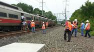 A 52-year-old Metro-North track worker died after being struck by a train Tuesday.