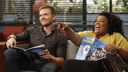 "Joel McHale and Yvette Nicole Brown star in ""Community."""