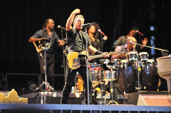Bruce Springsteen performs in Naples, Italy.