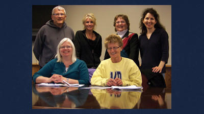 Some of the Somerset County Christmas for Kids Project committee members met to plan for the 2013 distribution in December at the Somerset Alliance Church. From left are, seated: Diana Svonavec, Pauli Farley. Standing: Dave Mapes, Binnie Knupp, Nancy Hay and Denise Howard. Absent when photo was taken were Gay Clark, Linda Johnson and Linda Spoerlein.