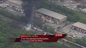 WBAL helicopter images provide big, early edge in TV derailment coverage