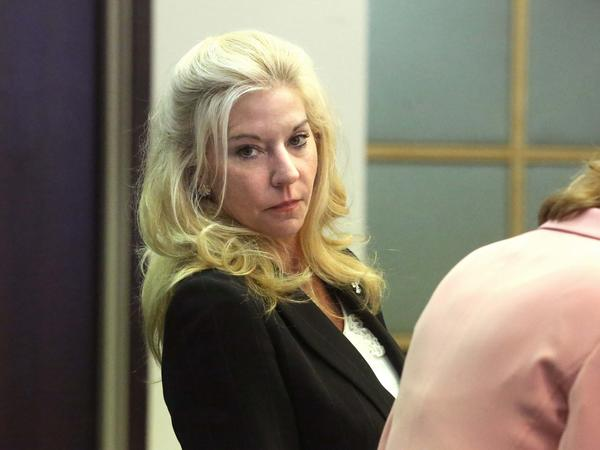 Caryn Kelley in court on Tuesday, May 28, 2013. Kelley is accused of shooting her boyfriend Phillip Peatross in July 2011 when he returned home hours after a drunken argument.