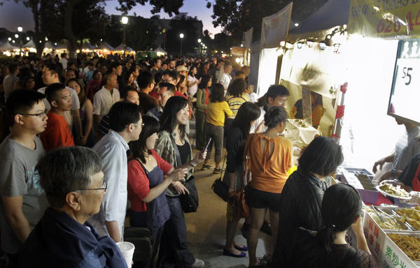 A crowd at Night Market last summer.