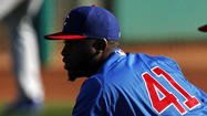 Highly touted pitching prospect Arodys Vizcaino will not make his Cubs' debut this season after suffering another elbow injury.