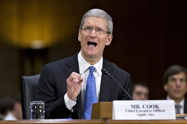 Apple CEO Tim Cook testifies in Washington before a Senate panel examining how multinational corporations shift profits offshore.