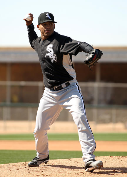 Nestor Molina during spring training at Camelback Ranch.