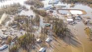 A massive ice jam on the Yukon River sent a flood of water into Galena, Alaska, inundating most of the town and forcing the evacuation of nearly the entire population.