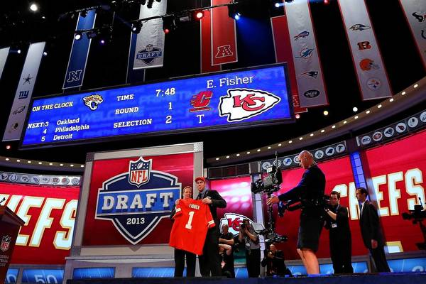 Radio City Music Hall hosted the 2013 NFL Draft in April.