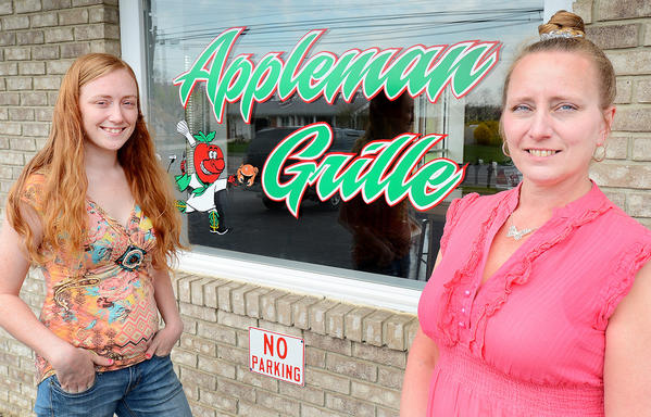 Felicia McDonald, right, owns Appleman Grille at 8488 Winchester Ave. in Inwood, W.Va. Her daughter Nicole Sather, left, is a 2007 graduate of Musselman High School and helps her mother at the restaurant, which opened in January.