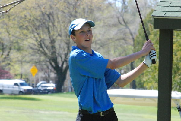 Alanson-Pellston's Connor Kintz was medalist Tuesday at the Northern Lakes Conference championship Gordon Cup with a 73 as he defeated Mackinaw City's Nick Mercer in a playoff at Wildwood Golf Club in Wolverine.