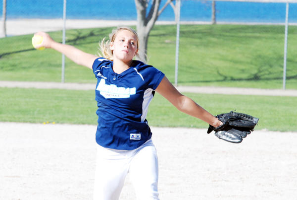 Petoskey senior Annie Hansen allowed just five hits combined and struck out 21 Gaylord batters Tuesday in a Big North Conference sweep over the Blue Devils at Gaylord High School. With the win, the Northmen improve to 13-12 overall, 7-5 league.