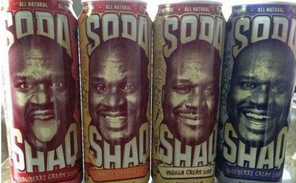 A screen grab of Shaq Soda from Shaquille O'Neal's Twitter feed.